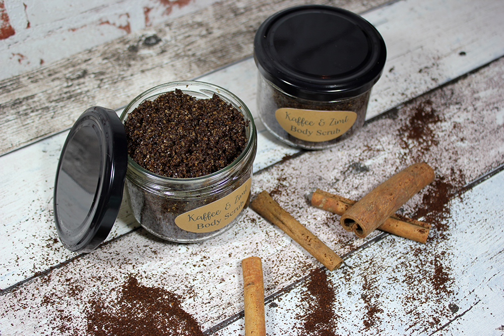 DIY Body Sugar Scrub Coffee Cinnamon 1