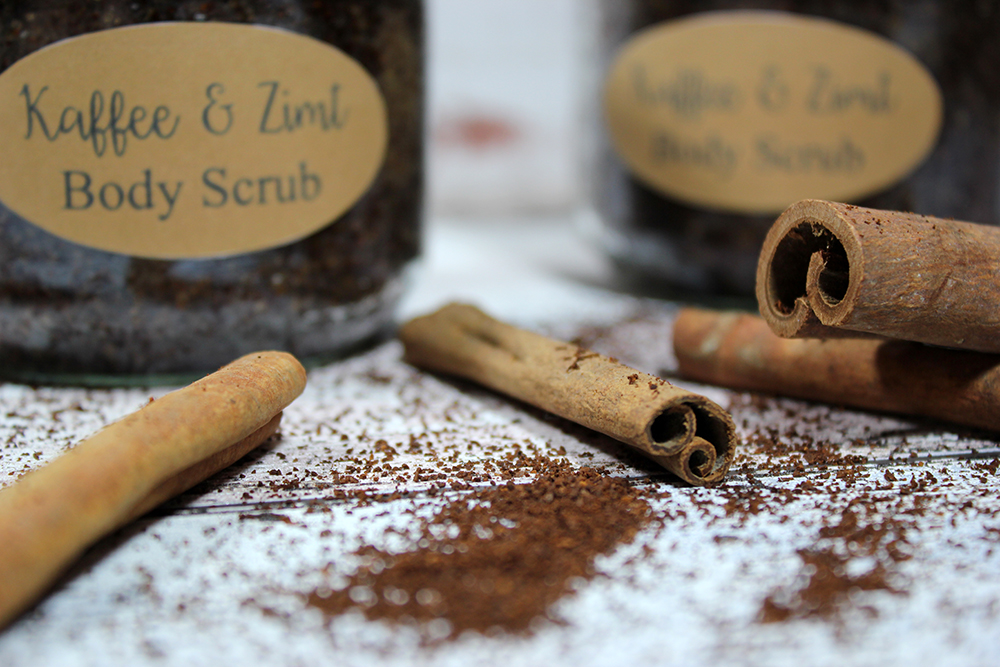 DIY Body Sugar Scrub Coffee Cinnamon 3
