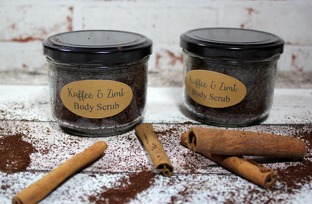 DIY Body Sugar Scrub Coffee Cinnamon 4