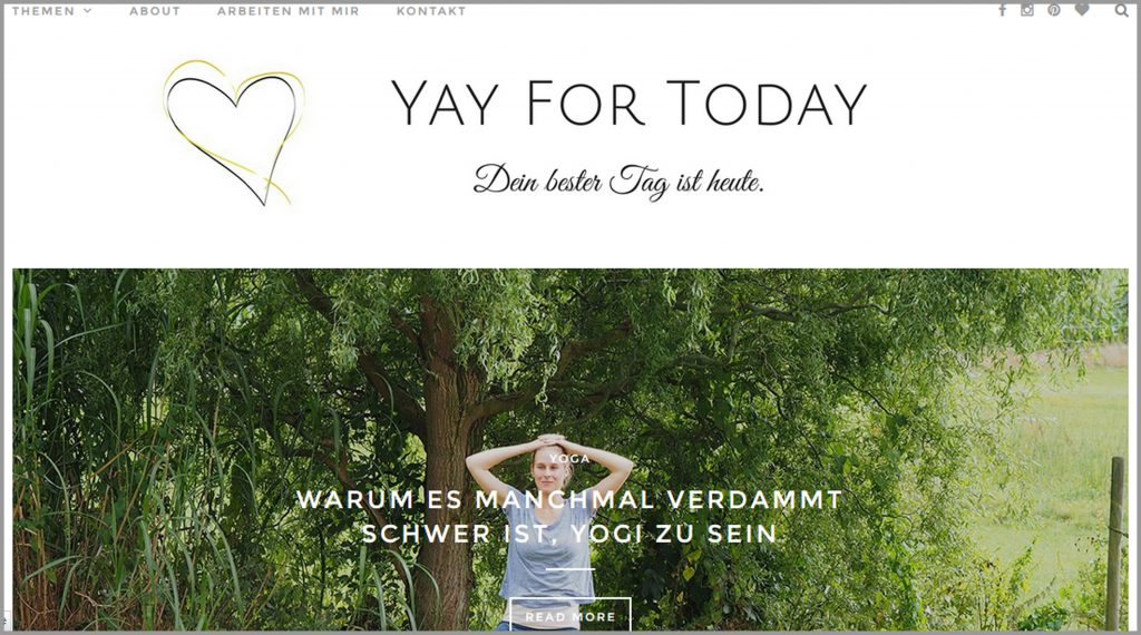 Meine 11 liebsten deutschsprachrigen Yoga Blogs yay for today