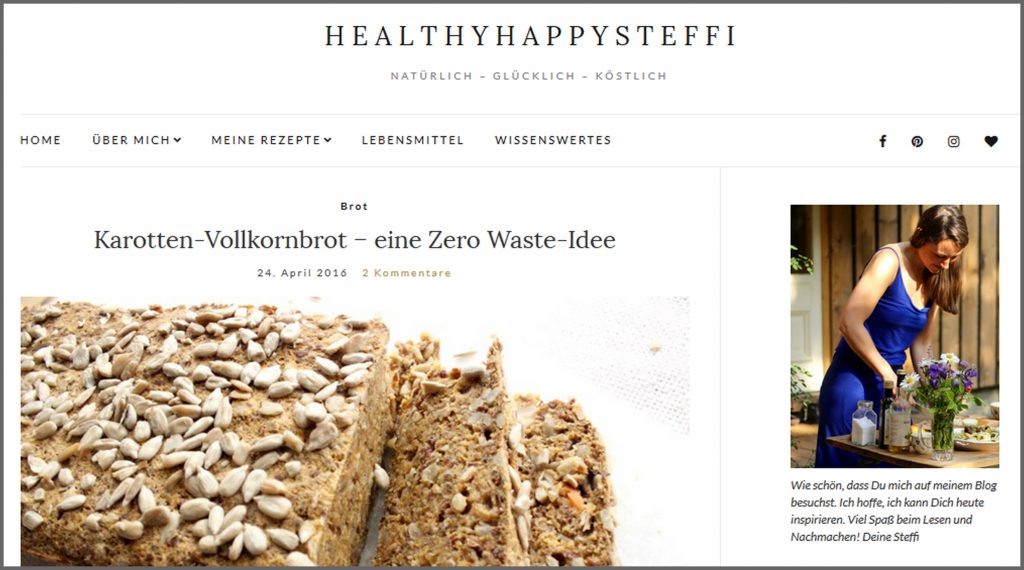 Meine liebsten Food Blogs vegan glutenfrei zuckerfrei Healthy Happy Steffi