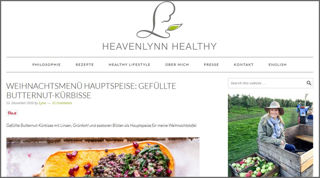 Meine liebsten Food Blogs vegan glutenfrei zuckerfrei Heavenlynn Healthy