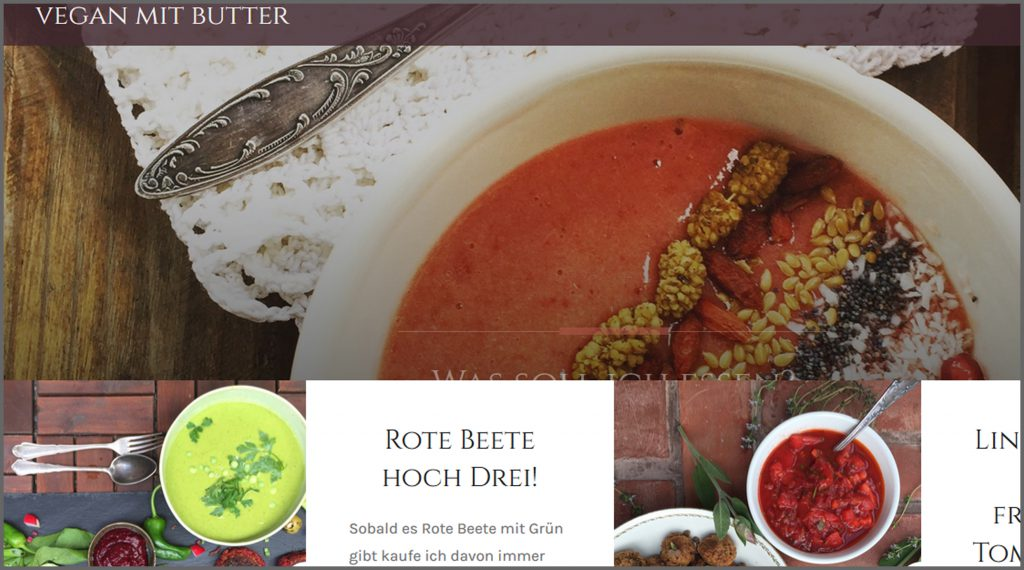 Meine liebsten Food Blogs vegan glutenfrei zuckerfrei Vegan mit Butter