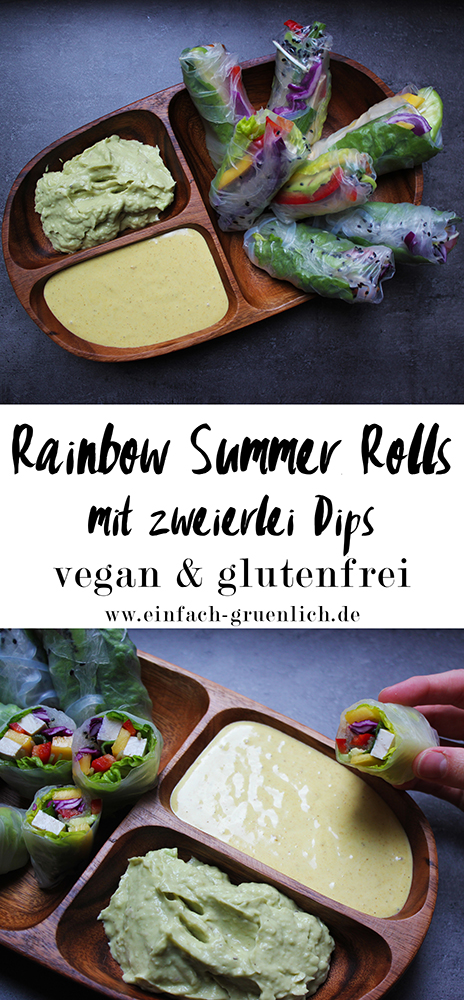 rainbow summer rolls vegane glutenfreie sommerrollen einfach gr nlich. Black Bedroom Furniture Sets. Home Design Ideas